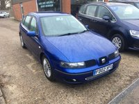 USED 2002 02 SEAT LEON 1.8 5 DOOR IN MET BLUE,ALLOYS,LOWERED,TRADE CLEARANCE CAR. APPROVED CARS ARE PLEASED TO OFFER THIS  SEAT LEON 1.8 5 DOOR IN MET BLUE WITH ALLOYS,LOWERED SUSPENSION AND MORE BUT DUE TO ITS AGE AND MILEAGE IS BEING OFFERED AS A TRADE CLEARANCE CAR WITH AN MOT UNTIL MAY 2018.
