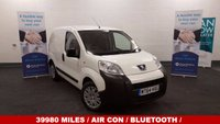 2014 PEUGEOT BIPPER 1.3 HDI PROFESSIONAL 75 BHP HDI  * Low Mileage only 39980 *Air Con * Bluetooth* Drive Away Today* £4990.00