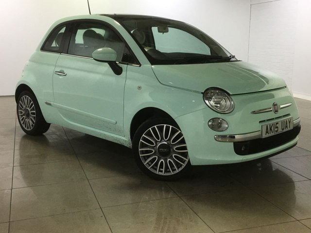 View our 2015 15 FIAT 500 1.2 LOUNGE 3d 69 BHP