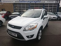 USED 2009 09 FORD KUGA 2.0 ZETEC TDCI 2WD 5d 134 BHP stunning kuga in frozen white appearance pack