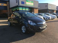 USED 2014 64 VAUXHALL CORSA 1.2 SPORTIVE CDTI 1d 94 BHP FSH, ALLOYS, A/C, 68,000 MILES, FINANCE ARRANGED & 6 MONTH WARRANTY. FSH, A/C, Alloys, Radio/CD, Drivers airbag, Factory fitted bulk head, Metallic Black, Very Good Condition, 1 Owner, remote Central Locking, Drivers Airbag, CD Player/FM Radio, Steering Column Radio Control, Tailgate, spare key.