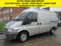 USED 2006 06 FORD TRANSIT 2.0TDCI T280 MWB MEDIUM HIGH ROOF TREND. SILVER. DRIVES NICE. PX EW. EM. F/FOGS. SILVER. ROOF-RACK. GREAT VALUE. PX
