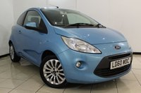 USED 2010 60 FORD KA 1.2 ZETEC 3DR 69 BHP SERVICE HISTORY + AIR CONDITIONING + RADIO/CD + ELECTRIC WINDOWS + 15 INCH ALLOY WHEELS