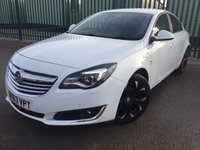 USED 2013 63 VAUXHALL INSIGNIA 2.0 SRI NAV CDTI ECOFLEX S/S 5d 160 BHP SAT NAV BLUETOOTH  NO FINANCE REPAYMENTS FOR 2 MONTHS STC. SATELLITE NAVIGATION. STUNNING WHITE WITH GREY CLOTH SPORTS TRIM. CRUISE CONTROL. 18 INCH ALLOYS. COLOUR CODED TRIMS. PARKING SENSORS. BLUETOOTH PREP. CLIMATE CONTROL. R/CD PLAYER. 6 SPEED MANUAL. MFSW. TOWBAR. MOT 06/18. SERVICE HISTORY. FCA FINANCE APPROVED DEALER. TEL 01937 849492