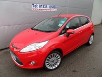 2012 FORD FIESTA 1.4 TITANIUM 5 DOOR 34000 MILES, CLIMATE CONTROL, ALLOYS, CD £6795.00