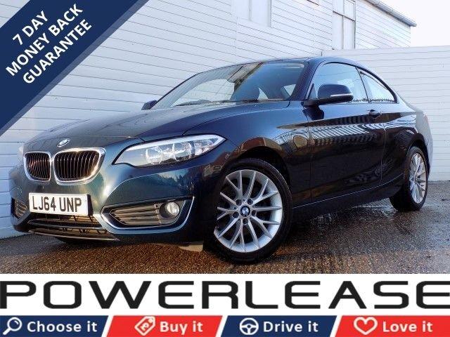 USED 2014 64 BMW 2 SERIES 2.0 220D SE 2d 181 BHP FSH PARKING SENSORS DAB RADIO