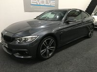 USED 2014 14 BMW 4 SERIES 3.0 435D XDRIVE M SPORT 2d AUTO 309 BHP FULL BMWSH! SAT NAV! PRO-MEDIA PACK!