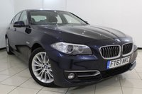 USED 2014 63 BMW 5 SERIES 3.0 535D LUXURY 4DR AUTOMATIC 309 BHP EXCLUSIVE LEATHER SEATS + SAT NAVIGATION PROFESSIONAL + PARKING SENSOR + BLUETOOTH + CRUISE CONTROL + MULTI FUNCTION WHEEL + 18 INCH ALLOY WHEELS