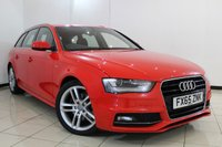 USED 2015 65 AUDI A4 2.0 AVANT TDI S LINE NAV 5DR AUTOMATIC 148 BHP SERVICE HISTORY + HALF LEATHER SEATS + SAT NAVIGATION + PARKING SENSOR + BLUETOOTH + CRUISE CONTROL + MULTI FUNCTION WHEEL + 18 INCH ALLOY WHEELS