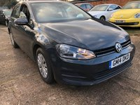 USED 2014 14 VOLKSWAGEN GOLF 1.6 S TDI BLUEMOTION TECHNOLOGY 5dr  1 Owner, Full service history, Free road tax.