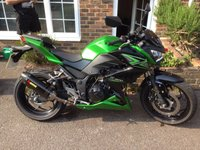 USED 2015 15 KAWASAKI Z300 ABS CANDY GREEN ***ONLY 1,700 MILES***AKRAPOVIC EXHAUST***