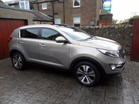 USED 2013 63 KIA SPORTAGE 2.0 CRDI KX-3 SAT NAV 5d 134 BHP LEATHER. SAT NAV. PARKING SENSORS. FSH.