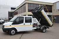 USED 2014 14 FORD TRANSIT 2.2 350 DRW 4d 124 BHP LR LWB DOUBLE CAB TIPPER  ONE OWNER FROM NEW, FULL SERVICE HISTORY