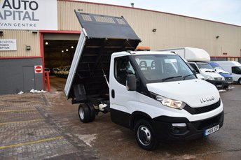 2015 IVECO-FORD DAILY 2.3 35C13 2d 126 BHP MWB RWD TWIN WHEEL DIESEL MANUAL TIPPER VAN £14990.00