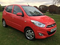 USED 2012 62 HYUNDAI I10 1.2 ACTIVE 5d 85 BHP **AS NEW**£20 ROAD TAX**