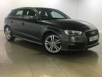USED 2014 64 AUDI A3 1.6 TDI S LINE 5d 109 BHP One Owner From New/Huge Spec