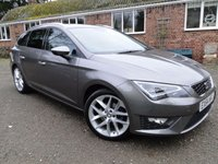 "USED 2014 64 SEAT LEON 2.0 TDI FR TECHNOLOGY SPORT TOURER 18"" ALLOYS"