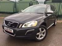 USED 2012 12 VOLVO XC60 2.4 D5 R-DESIGN AWD 5d AUTO 212 BHP SAT NAV LEATHER XENONS FSH NO FINANCE REPAYMENTS FOR 2 MONTHS STC. 4WD. SATELLITE NAVIGATION. R DESIGN BODYKIT. STUNNING GREY MET WITH FULL BLACK R-DESIGN LEATHER TRIM. HEATED SEATS. CRUISE CONTROL. XENONS. 18 INCH ALLOYS. COLOUR CODED TRIMS. PRIVACY GLASS. PARKING SENSORS. ELECTRIC TAILGATE. BLUETOOTH PREP. AIR CON. MEDIA INTERFACE. R/CD PLAYER. MFSW. TOWBAR. MOT 12/18. ONE PREV OWNER. FULL SERVICE HISTORY. FCA FINANCE APPROVED DEALER. TEL 01937 849492