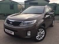 USED 2013 13 KIA SORENTO 2.2 CRDI KX-3 SAT NAV 5d AUTO 194 BHP FACELIFT PAN ROOF SAT NAV LEATHER FSH NO FINANCE REPAYMENTS FOR 2 MONTHS STC. 4WD. FACELIFT. 7 SEATER. PANORAMIC SUNROOF. SATELLITE NAVIGATION. STUNNING BROWN MET WITH FULL BLACK LEATHER TRIM. ELECTRIC SEATS. CRUISE CONTROL. 18 INCH ALLOYS. COLOUR CODED TRIMS. PRIVACY GLASS. PARKING SENSORS. REVERSING CAMERA. CLIMATE CONTROL. MONITOR. TRIP COMPUTER. R/CD PLAYER. MFSW. TOWBAR. MOT 12/18. ONE PREV OWNER. FCA FINANCE APPROVED DEALER. TEL 01937 849492