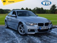 USED 2015 64 BMW 3 SERIES 2.0 320D M SPORT 4d 181 BHP We are delighted to offer for sale this February 2015 BMW 320D M Sport 4dr in Silver metallic with a full black leather sports interior. Just 41000 miles with service history and 2 keys. A superb family car for just £15799.
