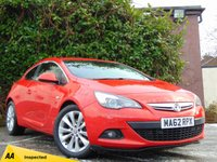 USED 2013 VAUXHALL ASTRA 1.4 GTC SRI S/S 3d  * 128 POINT AA INSPECTED *