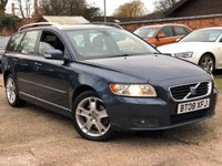 USED 2008 08 VOLVO V50 2.0 SE LUX D 5d 135 BHP Volvo history, Heated leather.