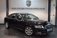 USED 2011 11 AUDI A6 2.0 TDI E SE 4DR 134 BHP + FULL BLACK LEATHER INTERIOR + FULL AUDI SERVICE HISTORY + SATELLITE NAVIGATION + BLUETOOTH + CRUISE CONTROL + HEATED MIRRORS + PARKING SENSORS + 17 INCH ALLOY WHEELS +