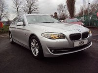 USED 2011 61 BMW 5 SERIES 2.0 520D SE TOURING 5d AUTO 181BHP 2KEYS+1 FORMER KEEPER+LEATHER+