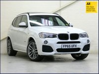 USED 2015 65 BMW X3 2.0 XDRIVE20D M SPORT 5d AUTO 188 BHP •OYSTER •PANROOF •NAV •PRIVACY...