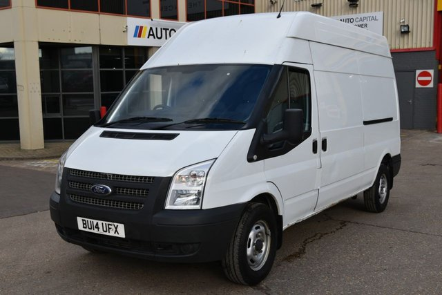2014 14 FORD TRANSIT 2.2 350 H/R 5d 124 BHP LWB RWD ONE OWNER FROM NEW