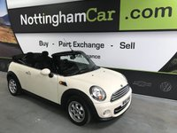 USED 2011 61 MINI CONVERTIBLE COOPER D