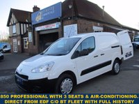 USED 2012 PEUGEOT PARTNER 850 PROFESSIONAL WITH 3 SEATS & AIR-CON