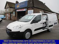 2012 PEUGEOT PARTNER 850 L1 PROFESSIONAL WITH 3 SEATS & AIR-CON £4445.00
