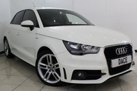 USED 2012 62 AUDI A1 1.6 SPORTBACK TDI S LINE 5DR 105 BHP HALF LEATHER SEATS + BLUETOOTH + MULTI FUNCTION WHEEL + AIR CONDITIONING + AUXILIARY PORT + RADIO/CD + 17 INCH ALLOY WHEELS