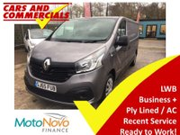USED 2015 65 RENAULT TRAFIC LWB LL29 BUSINESS PLUS ENERGY 120 BHP PLy Lined LWB very tidy