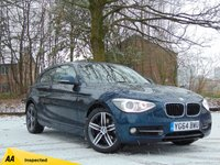 USED 2014 64 BMW 1 SERIES 2.0 116D SPORT 3d AUTO 114 BHP * 128 POINT AA INSPECTED *