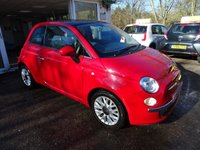 USED 2014 64 FIAT 500 0.9 TWINAIR LOUNGE 3d 85 BHP One Lady Owner from new, MOT until October 2018, Just Serviced by ourselves, Excellent on fuel economy! FREE Road Tax!