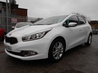 USED 2012 62 KIA CEED 1.6 2 ECODYNAMICS CRDI 5d 126 BHP 1 OWNER FREE ROAD TAX 29,900 MILES