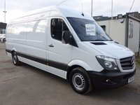 2015 MERCEDES-BENZ SPRINTER 313 CDI LWB HI ROOF, 130 BHP [EURO 5], HIGH SPEC VEHICLE £15995.00