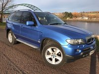USED 2005 55 BMW X5 3.0 D SPORT 5d 215 BHP **STUNNING ESTORIL BLUE WITH CREAM LEATHER**