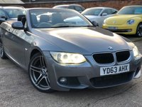 USED 2013 63 BMW 3 SERIES 2.0 320D M SPORT 2dr Convertible Auto 181 BHP Low miles, Full BMW History.