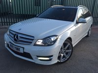 USED 2011 11 MERCEDES-BENZ C CLASS 2.1 C220 CDI BLUEEFFICIENCY SPORT 5d AUTO 168 BHP PAN ROOF SAT NAV LEATHER NOW SOLD.