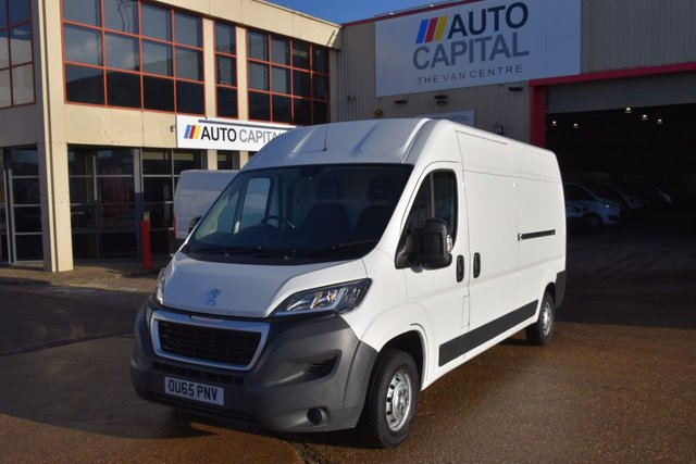 2015 65 PEUGEOT BOXER 2.2 HDI 335 L3H2 PROFESSIONAL LWB P/V 5d 130 BHP AIR CON RWD DIESEL PANEL VAN ONE OWNER LOW MILEAGE SPARE KEY