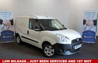 2015 FIAT DOBLO 1.3 16v MULTIJET 90 BHP Low mileage ,  Ply-Lined and ready to drive away £4980.00