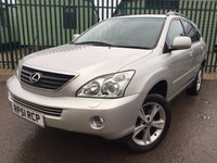 USED 2006 06 LEXUS RX 3.3 400H SE CVT 5d AUTO 208 BHP SUNROOF SAT NAV HEADREST DVDS LEATHER FSH NOW SOLD.