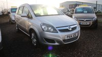 USED 2014 14 VAUXHALL ZAFIRA 1.8 EXCLUSIV 5d 120 BHP LOW DEPOSIT OR NO DEPOSIT FINANCE AVAILABLE.