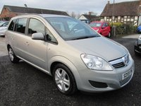 USED 2009 59 VAUXHALL ZAFIRA 1.6 EXCLUSIV 5d 113 BHP 7 SEVEN SEAT FULL SERVICE HISTORY