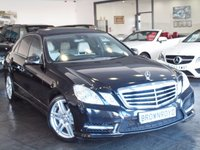 USED 2013 62 MERCEDES-BENZ E CLASS 3.0 E350 CDI BLUEEFFICIENCY S/S SPORT 4d AUTO 265 BHP PAN ROOF+SAT NAV+LEATHER+FSH