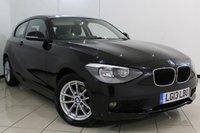 USED 2013 13 BMW 1 SERIES 2.0 118D SE 3DR AUTOMATIC 141 BHP BLUETOOTH + CRUISE CONTROL + PARKING SENSOR + MULTI FUNCTION WHEEL + RADIO/CD + 16 INCH ALLOY WHEELS