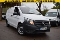 USED 2015 65 MERCEDES-BENZ VITO 1.6 111 CDI 1d 114 BHP A 1 owner 2015 Mercedes Vito 1.6cdi 111 2.8T LONG van in white priced at just £11999 + vat.
